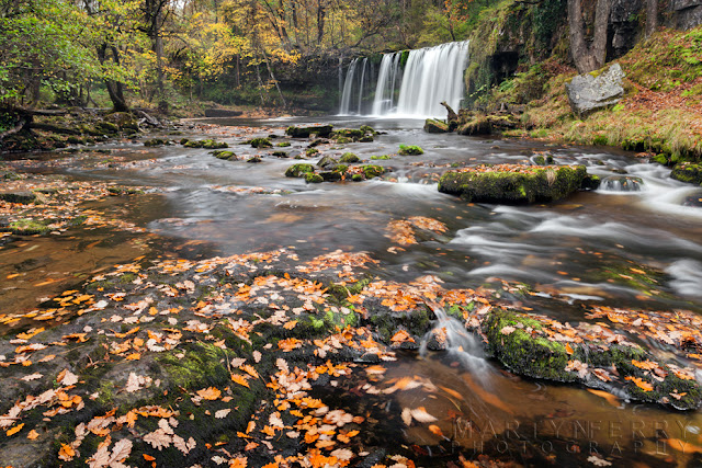 Upper Gushing Falls in the Brecon Beacons, Wales by Martyn Ferry Photography