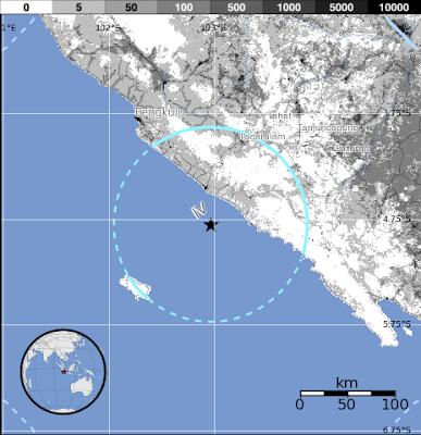 Un sismo de 5,5 grados en la escala de Richter ha afectado a la isla indonesia de Sumatra el 21 de Agosto 2012