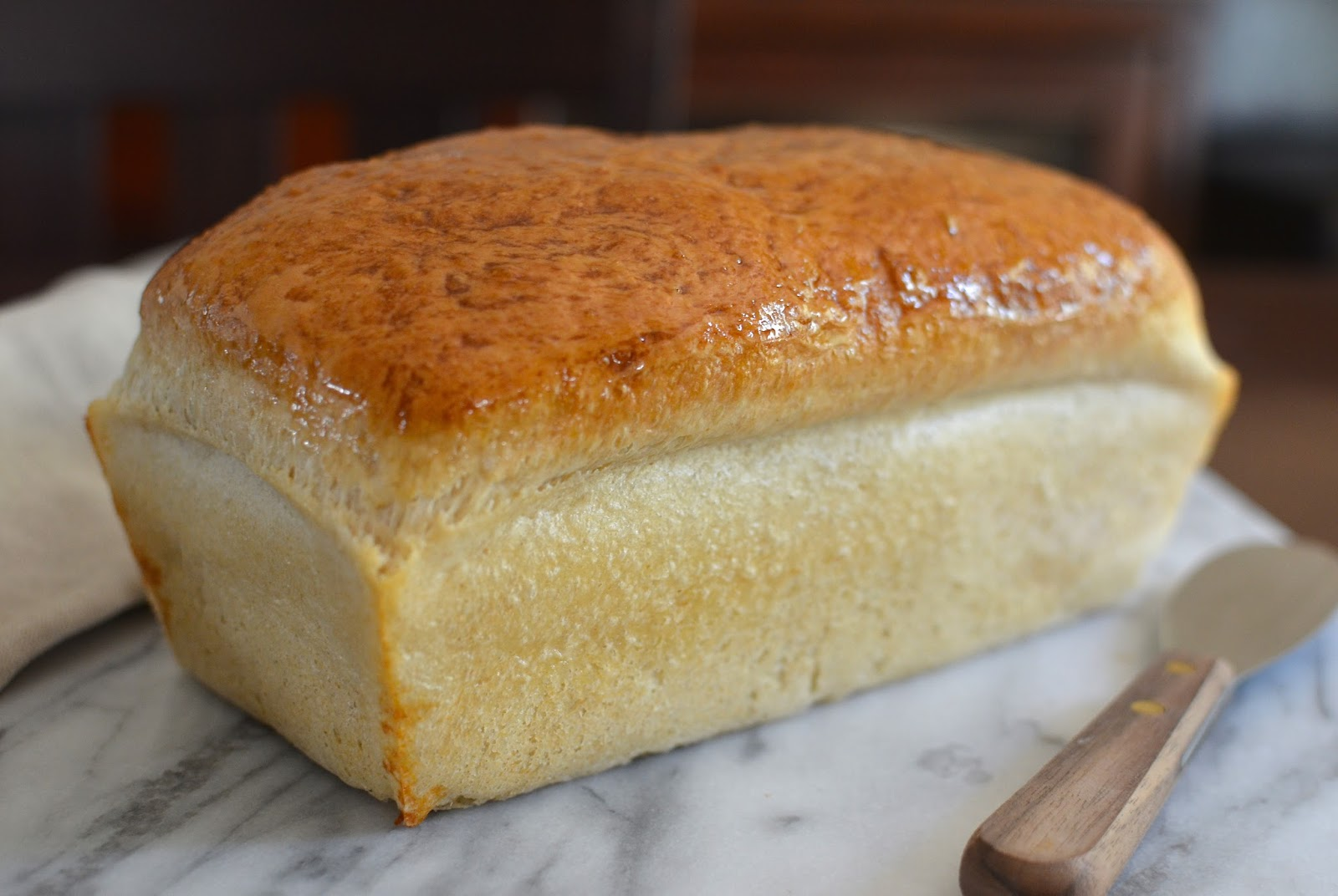 ... first learned about the super-easy English muffin loaf bread recipe