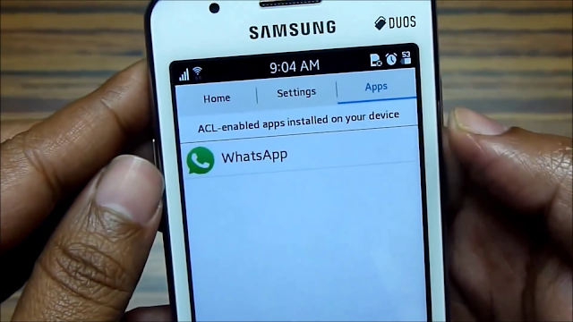 andriod application  installation in samsung z1
