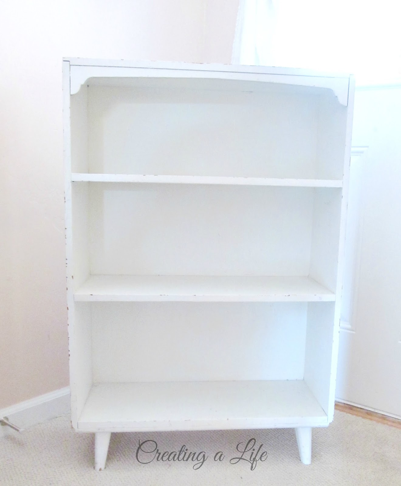 The Next Piece In Equation Is A Cute Little White Bookshelf That I Actually Paid For At Yard Sale Many Years Ago All Of Five Dollars Think