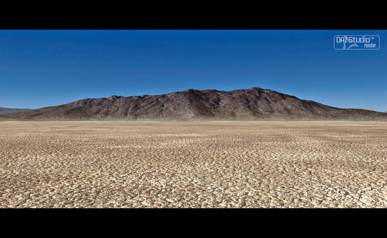 Sec désert de boue