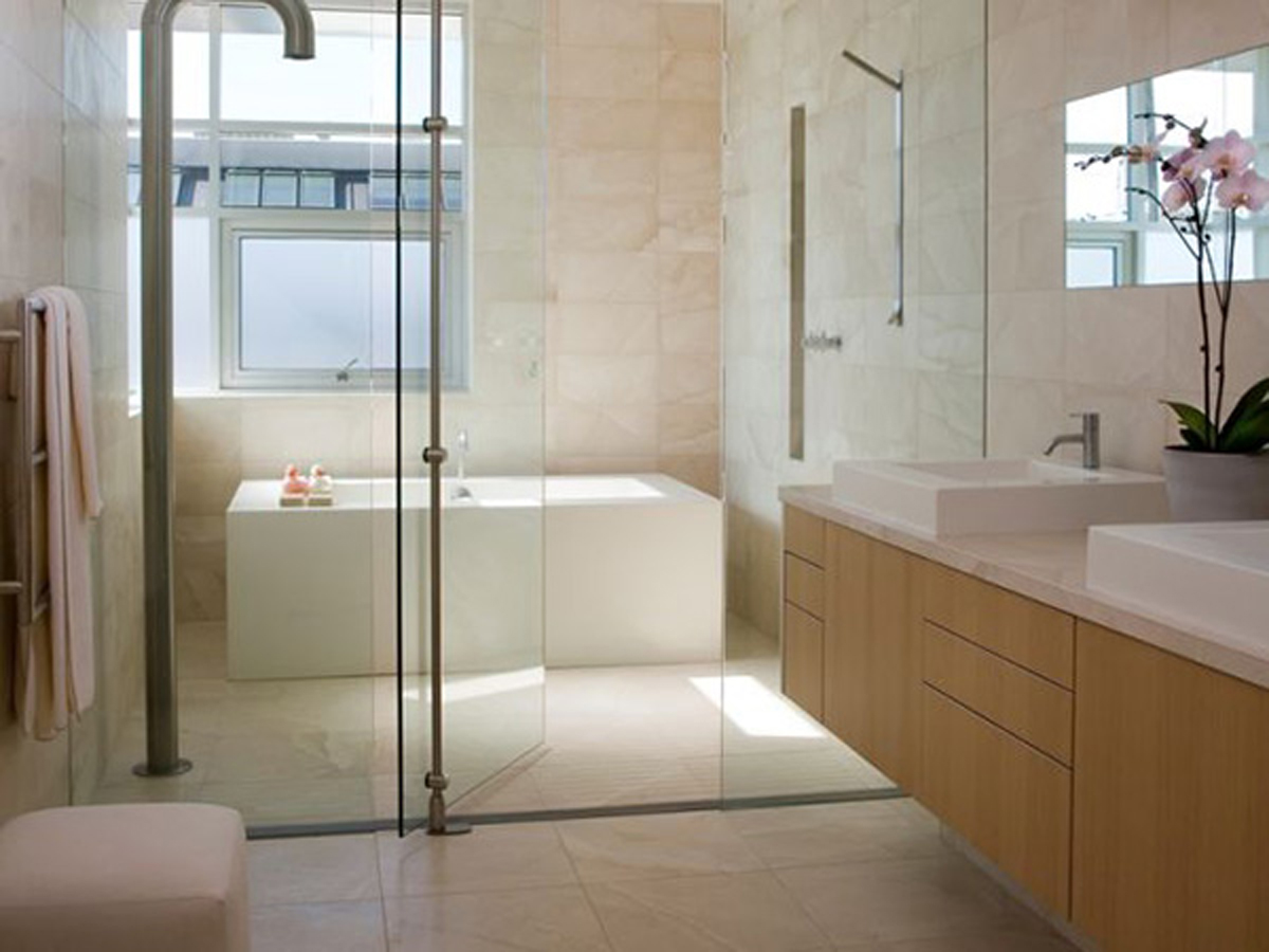 Bathroom floor ideas for Bathroom shower ideas