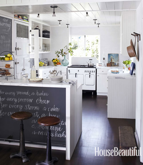 Kitchen Bar With Stove: Californian Beach Cottage Take II