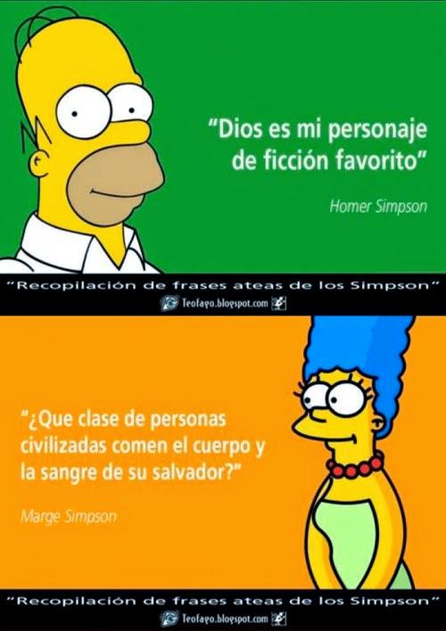 frases ateas de Los Simpson - Homer y Marge