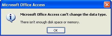 how to change type of data Microsoft Access