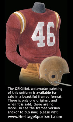Washington Redskins 1956 uniform