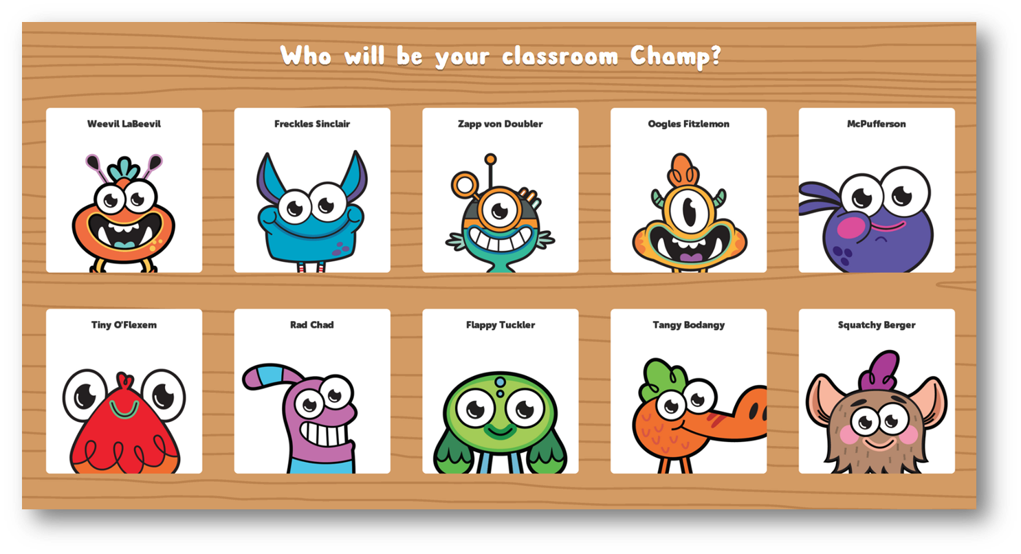 You even get to pick your own classroom champ! Each time you brain ...
