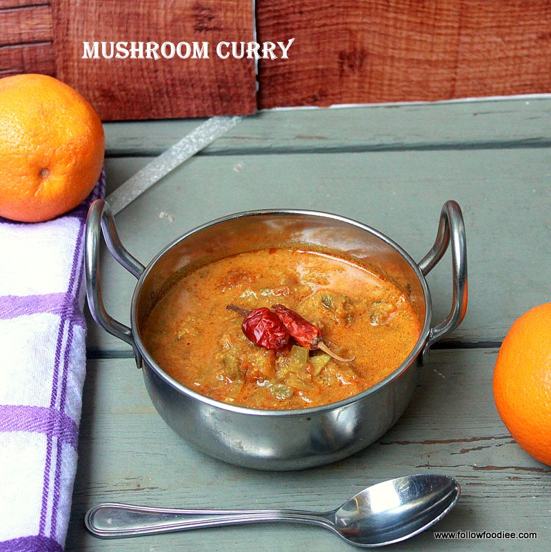 Easy and a simple curry made with mushrooms