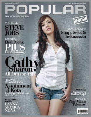 VJ Cathy di majalah Popular terbaru