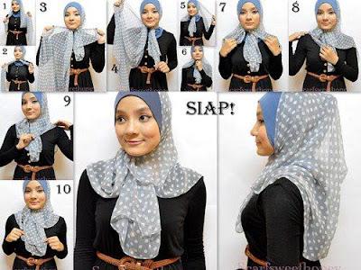 di bawah ini, cara-cara memakai hijab