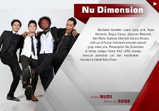 Profil dan Biodata NUDI x factor Indonesia