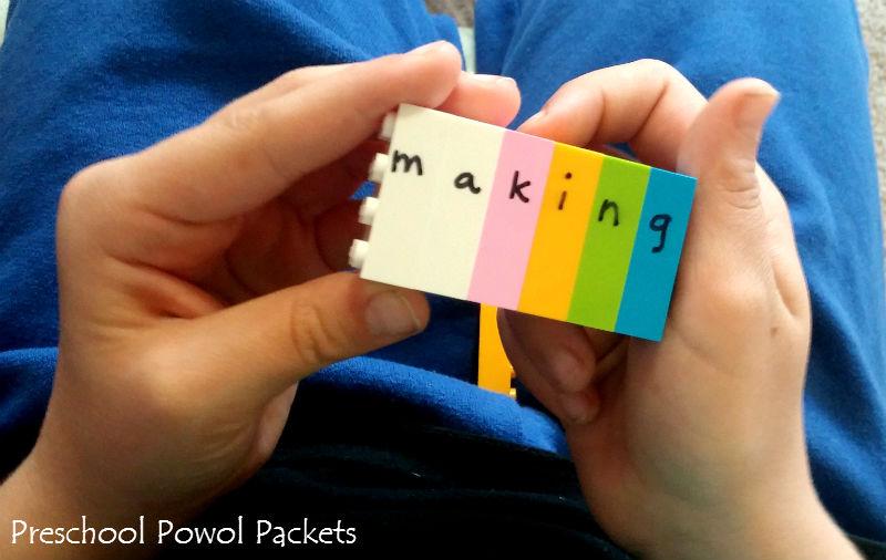 Spelling With LEGOS! | Preschool Powol Packets