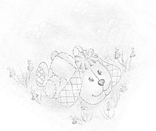 pintura em tecido infantil fralda risco cachorrinho