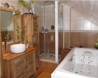 Genie bricolage d coration d coration salle de bain - Salle de bain bois pierre ...