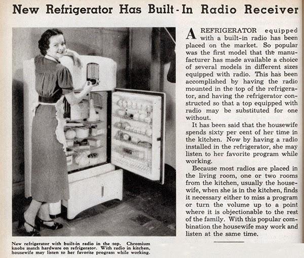La nevera con una radio