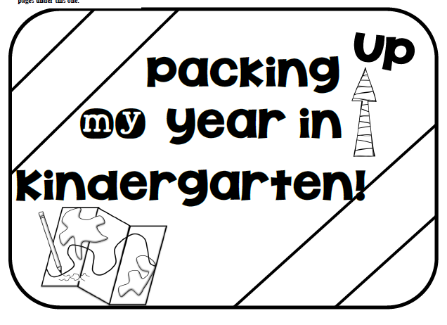 Image result for packing up my kindergarten year