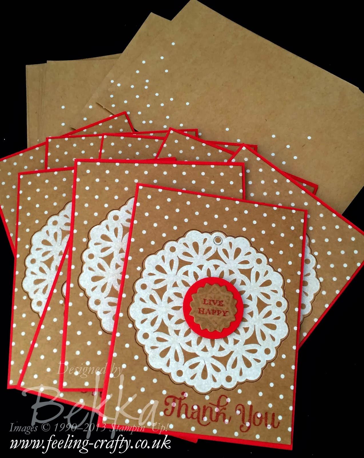 Snowflake Season Thank You Card - Using Up Christmas Stash after Christmas - Good Plan