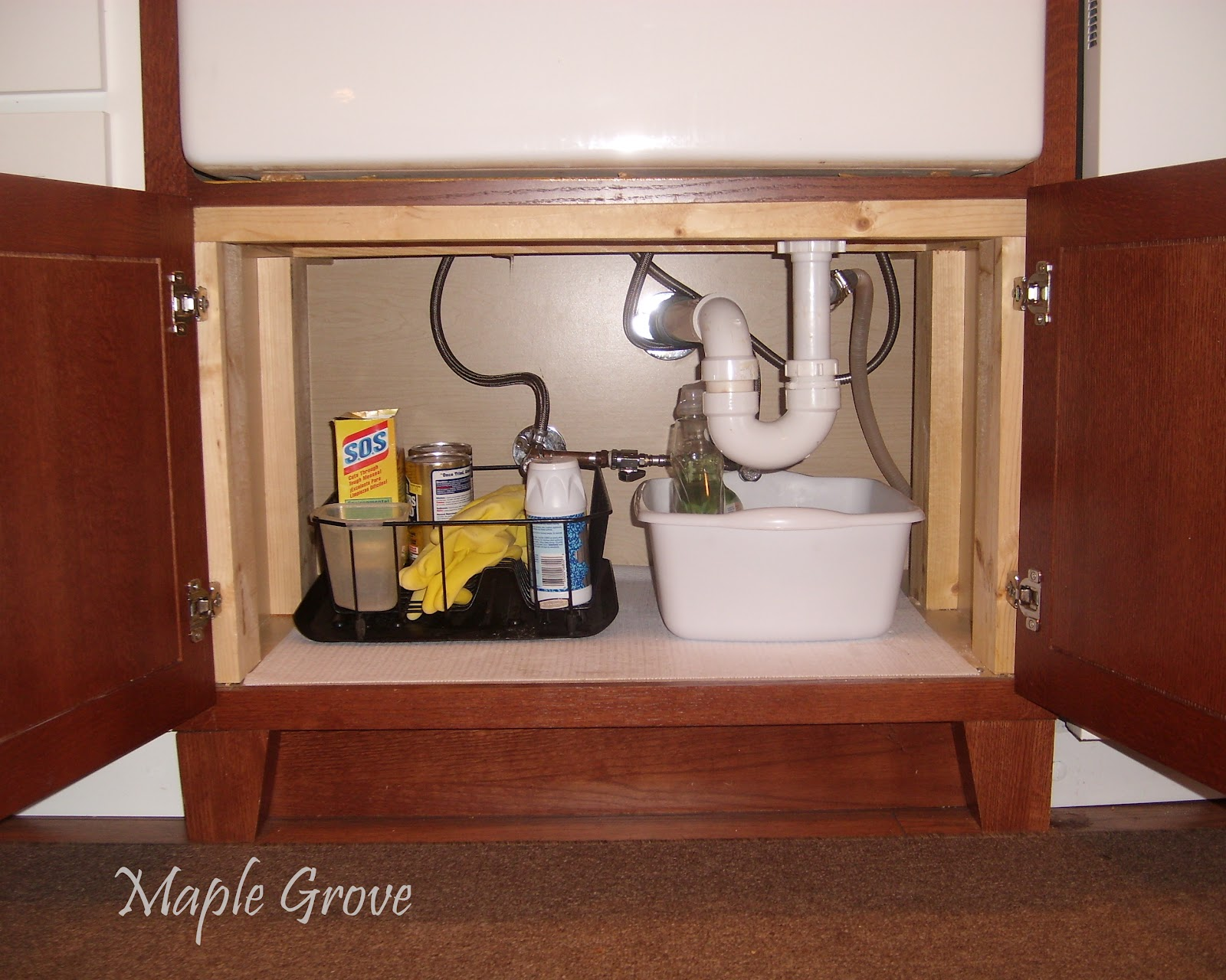 Undermount Bathroom Sink Supports maple grove: how to build a support structure for a farm house sink