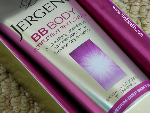 jergens bb body perfecting skin cream, review, swatch, how to moisturize