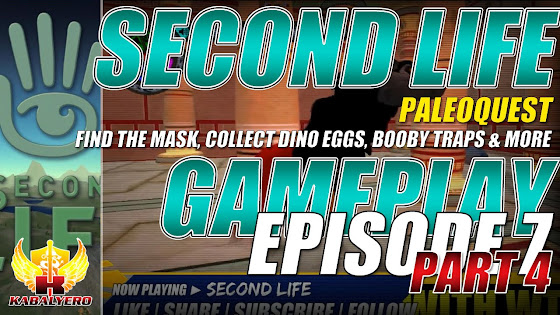 Second Life Gameplay ★ PaleoQuest → Find The Mask, Collect Dino Eggs, Booby Traps & More