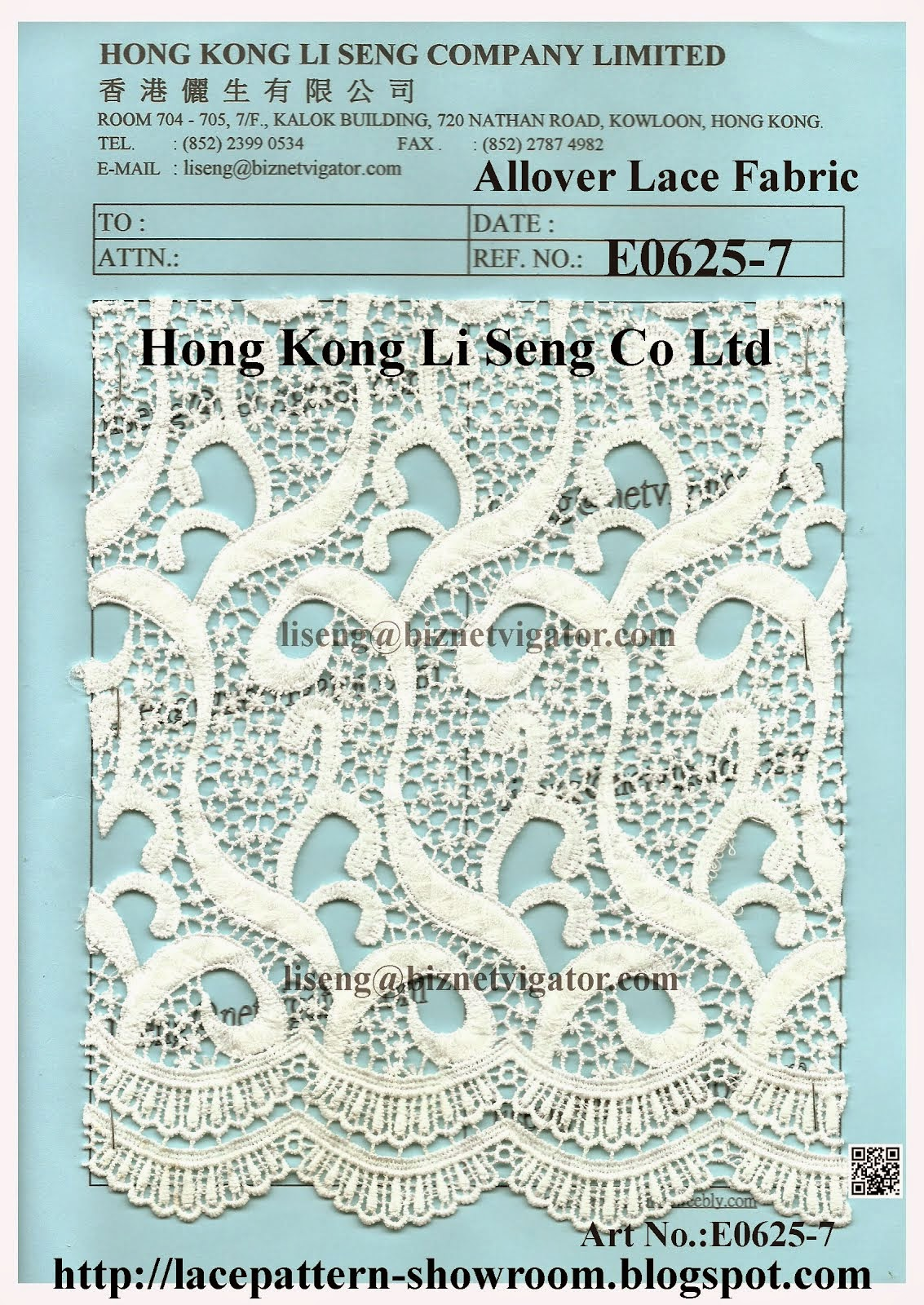 Allover Embroidery Lace Fabric New Pattern - Hong Kong Li Seng Co Ltd