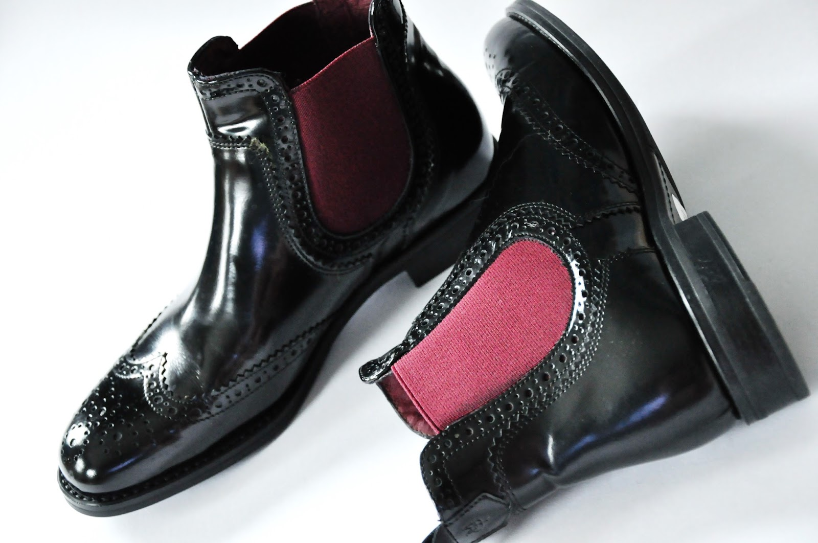 chelsea brogued boots