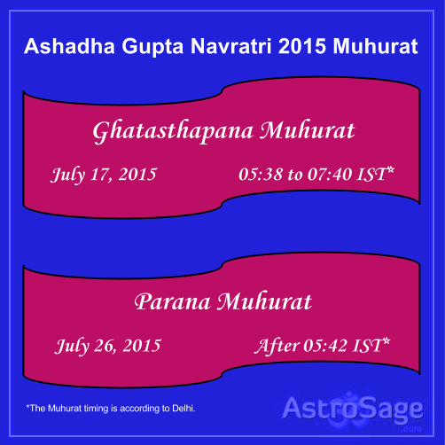 Ashadha Gupt Navratri Muhurat is giving you the opportunity to get blessed.