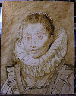 Lala Ragimov copy after Peter Paul Rubens, Step 1