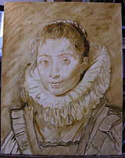 Lala Ragimov copy after Peter Paul Rubens, Step 1