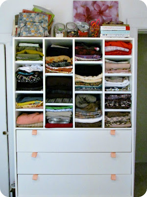 fabric storage, pattern storage, sewing storage, Ikea storage