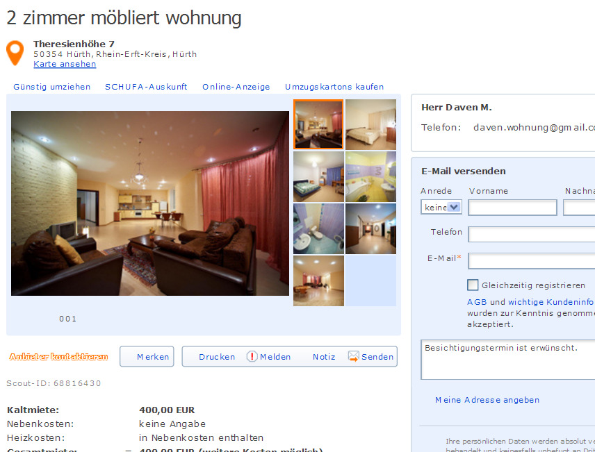 Wohnungsbetrug Blogspot Com Daven Morgan Gmx De Morgan
