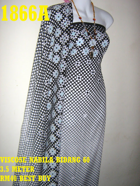 VN 1866A: VISCOSE NABILA BIDANG 60 INCI, 3.5 METER