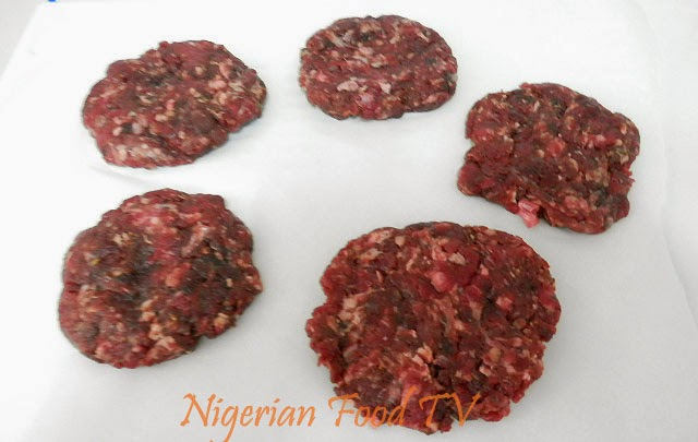 Homemade Burger in a Pan (Patties made from scratch), nigerian food tv
