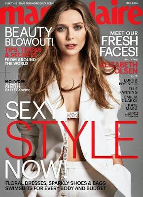Elizabeth Olsen looks stunning on Marie Claire magazine photo shoot