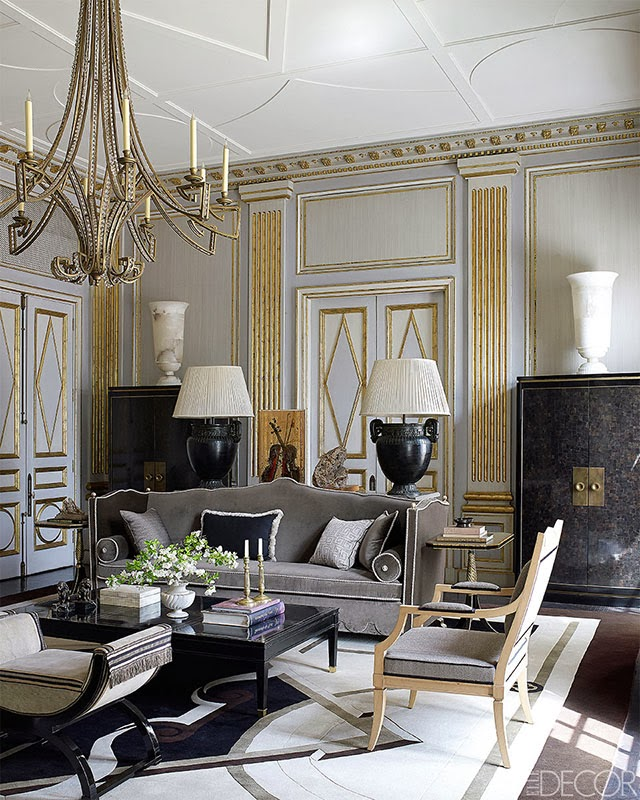 Gold Pairs Well With Many Colors (blush, Navy, Etc) But Before Seeing This  Home In Elle Decor I Didnu0027t Realize How Well It Pairs With Gray.