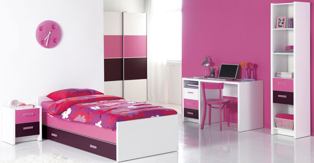 Girl bedroom ideas teenage girl bedroom decor with pink for Purple and pink bedroom ideas