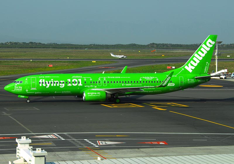 South Africa domestic airlines, the Kulula Air. So green