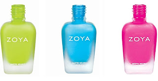 Zoya fluro nail polishes