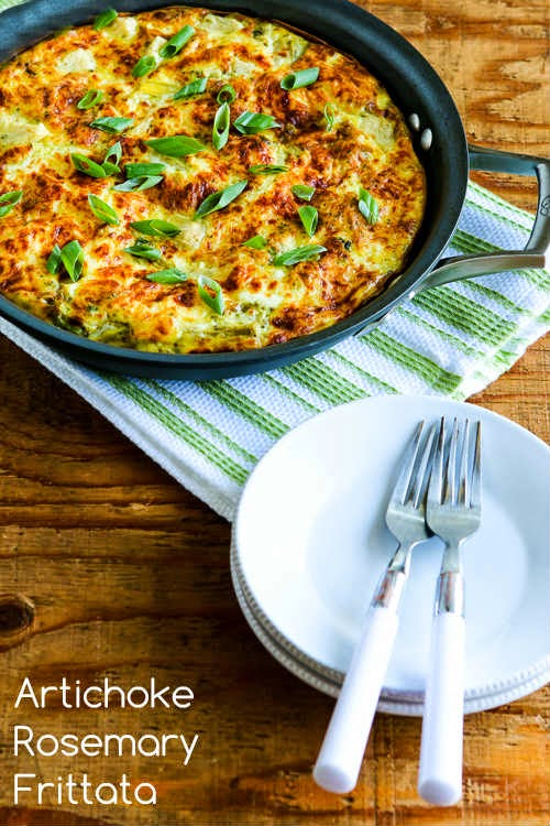 Artichoke-Rosemary Frittata Recipe (Low-Carb, Gluten-Free) found on KalynsKitchen.com