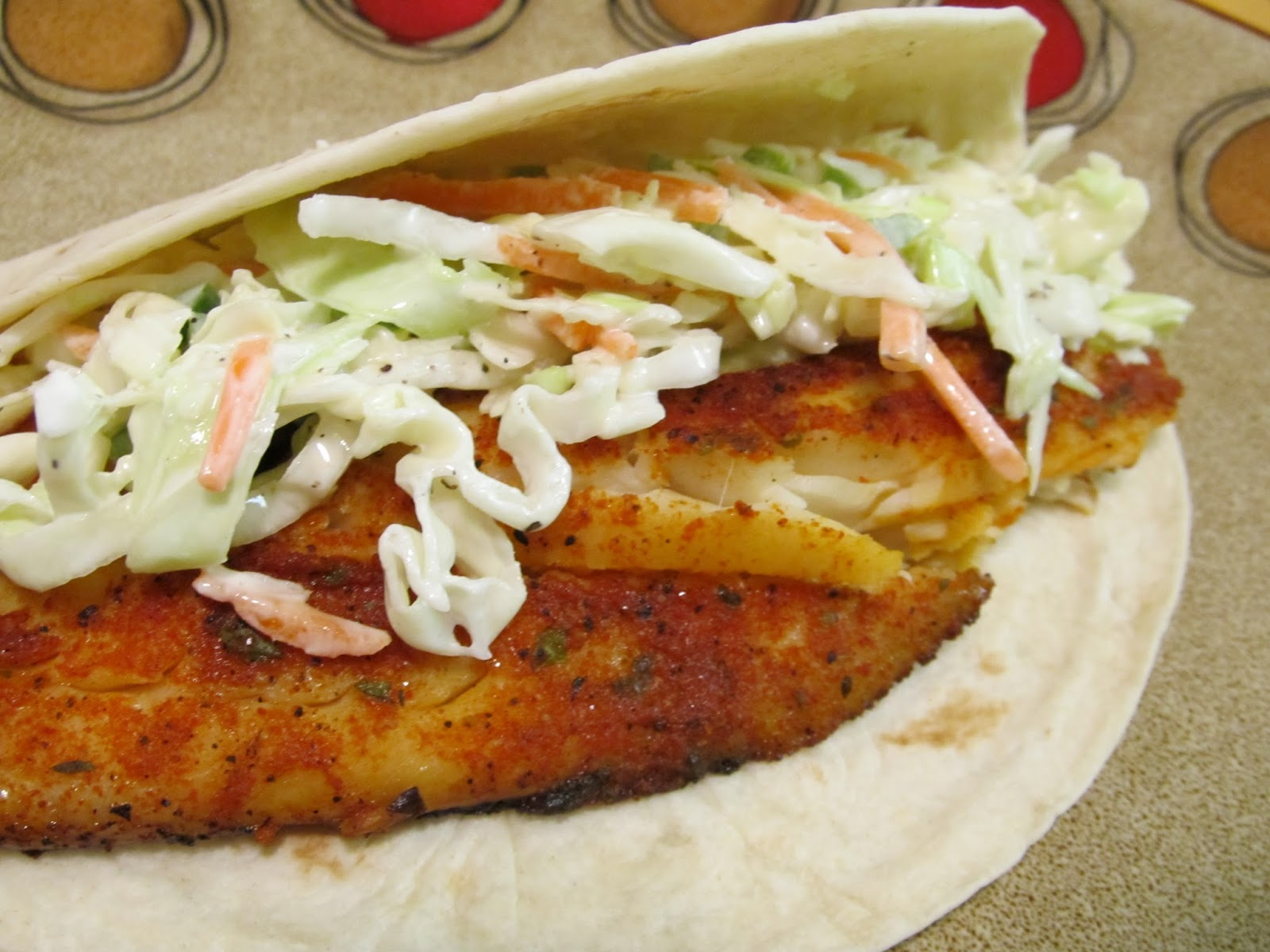 Jenn 39 s food journey spicy fish tacos with creamy jalapeno for Fish tacos with coleslaw