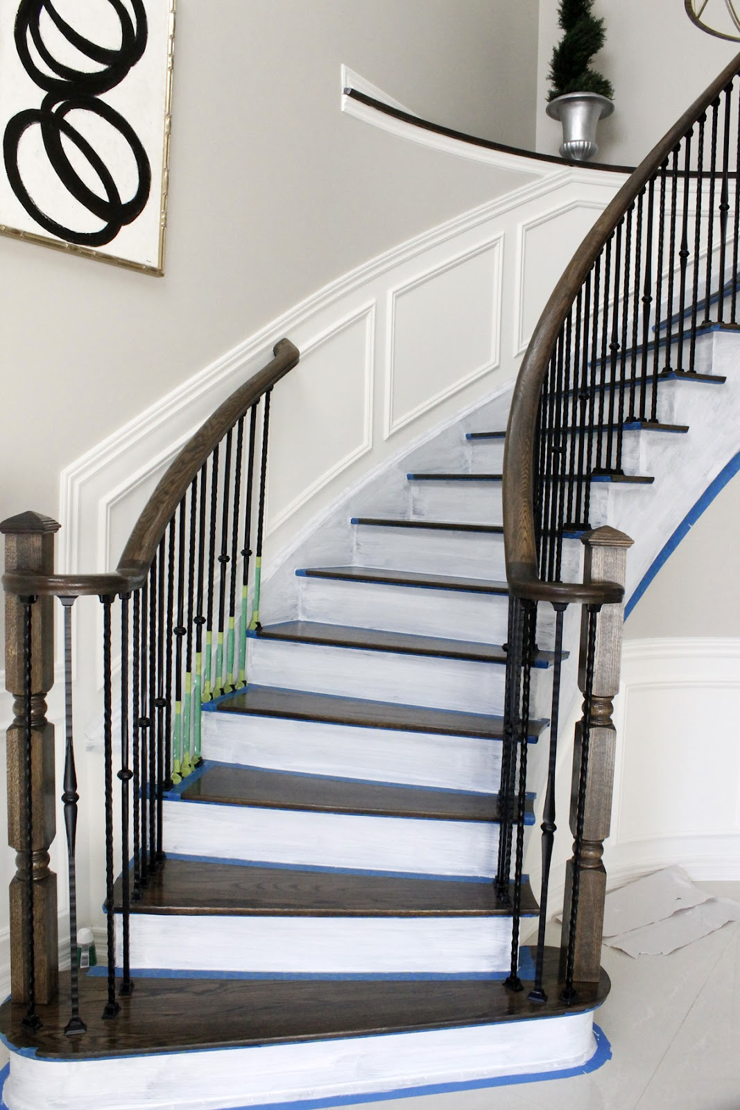 My Foyer Staircase Reveal : Am dolce vita painted staircase reveal