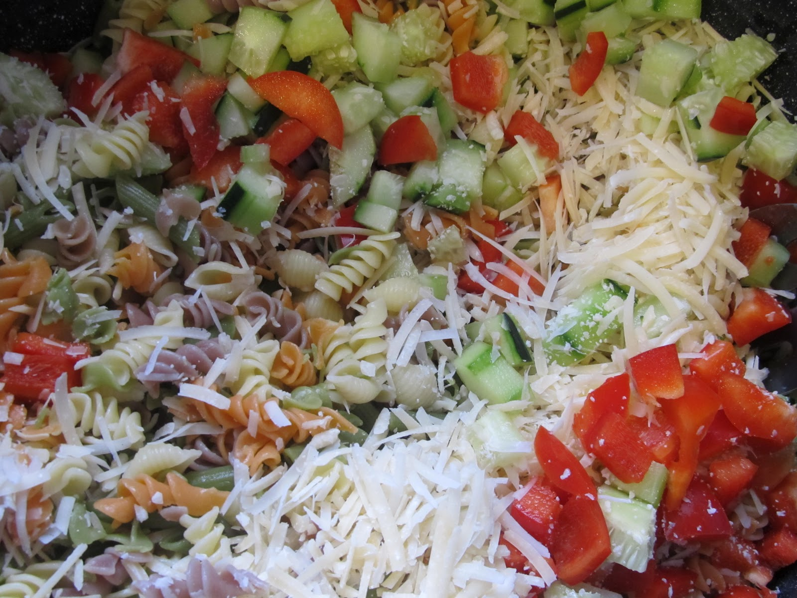 Kim's Cooking and Gardening: Greek Salad and Caesar Pasta Salad