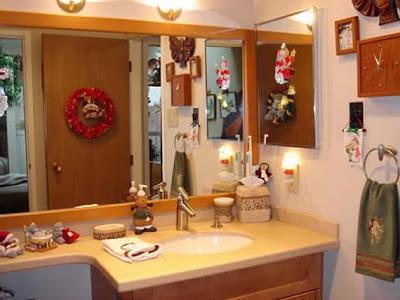 decoración navideña baño