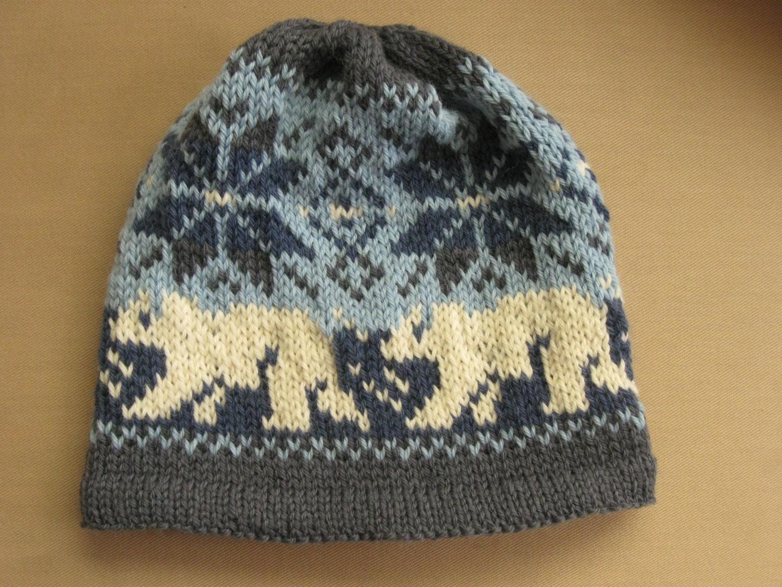 Bear Hat Knitting Pattern : the Domina: Polar Bear Love