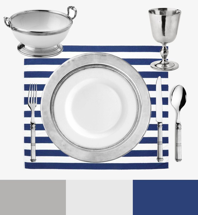 Keep it as your table setting main rule and choose two allied colors such as ceramic-white and pewter-grey. In the above table setting ex&le you see the ...  sc 1 st  Marinoni Peltro - Marinoni pewter & Marinoni Peltro: How to create the perfect table setting