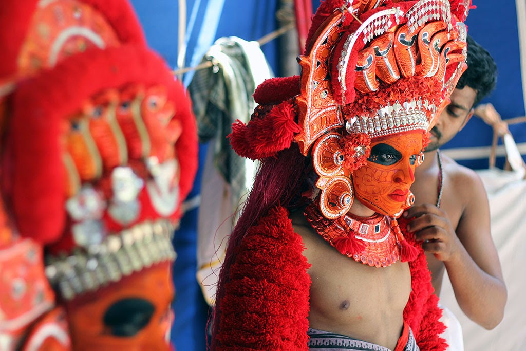 Theyyam performers in northern Kerala