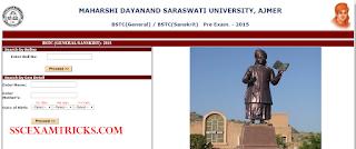 RAJASTHAN BSTC RESULT 2015