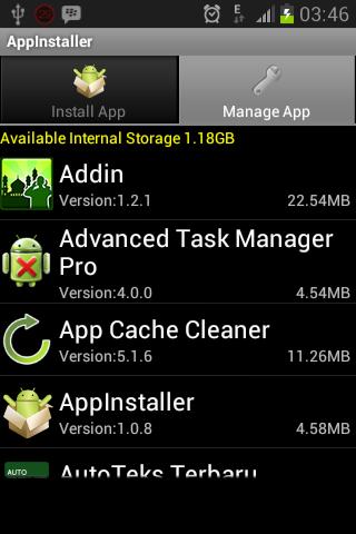 Manage App AppInstaller