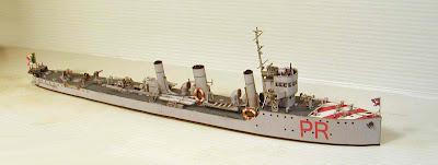 Battleship Vittorio Emanuele Papercraft, italian